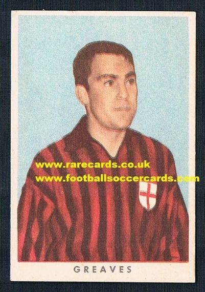 1961 Greaves RASA gum card Italy